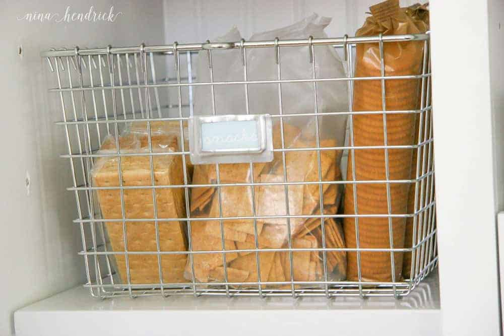 10 Tips for an Organized Pantry from @nina_hendrick | Tip 7: Corral loose items with baskets, trays, and crates