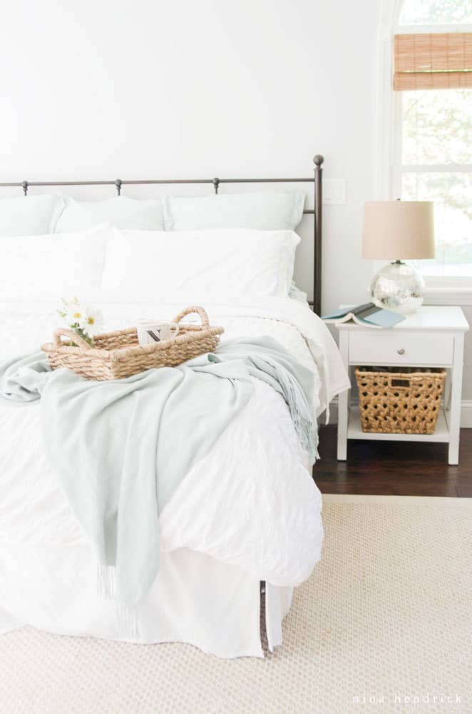 Master Bedroom- Modern Farmhouse Home Tour | Nina Hendrick Design Co. | Follow along as a 1980s colonial fixer upper gets a complete DIY makeover and is renovated to reflect modern farmhouse charm.