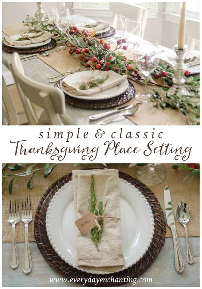 Simple & Classic Thanksgiving Place Setting