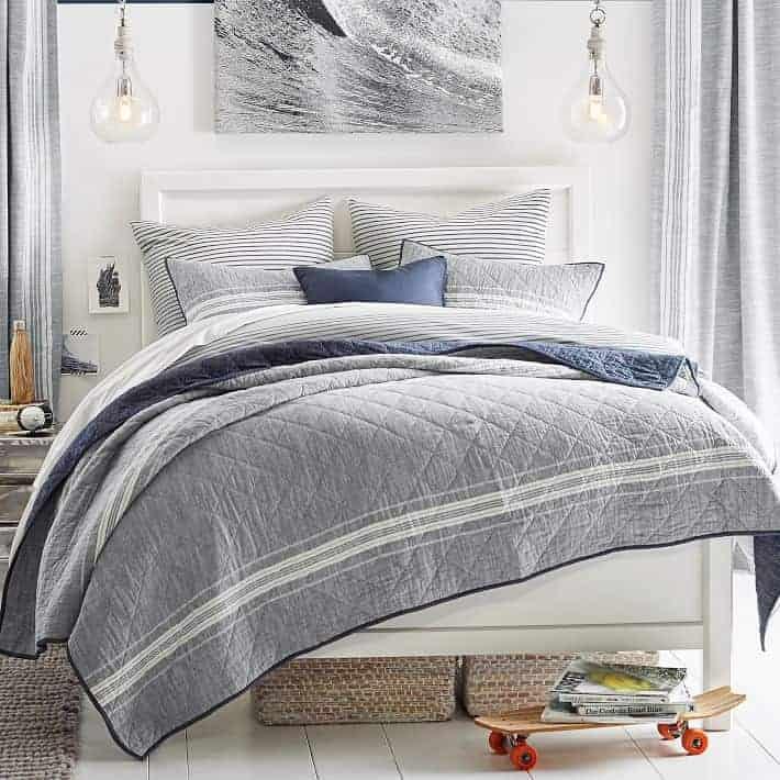 Rustic Industrial Boy Bedroom Design | Gather inspiration from this Rustic Industrial bedroom from Pottery Barn Teen.
