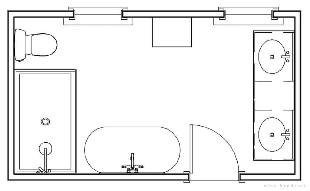 New primary bathroom floor plan