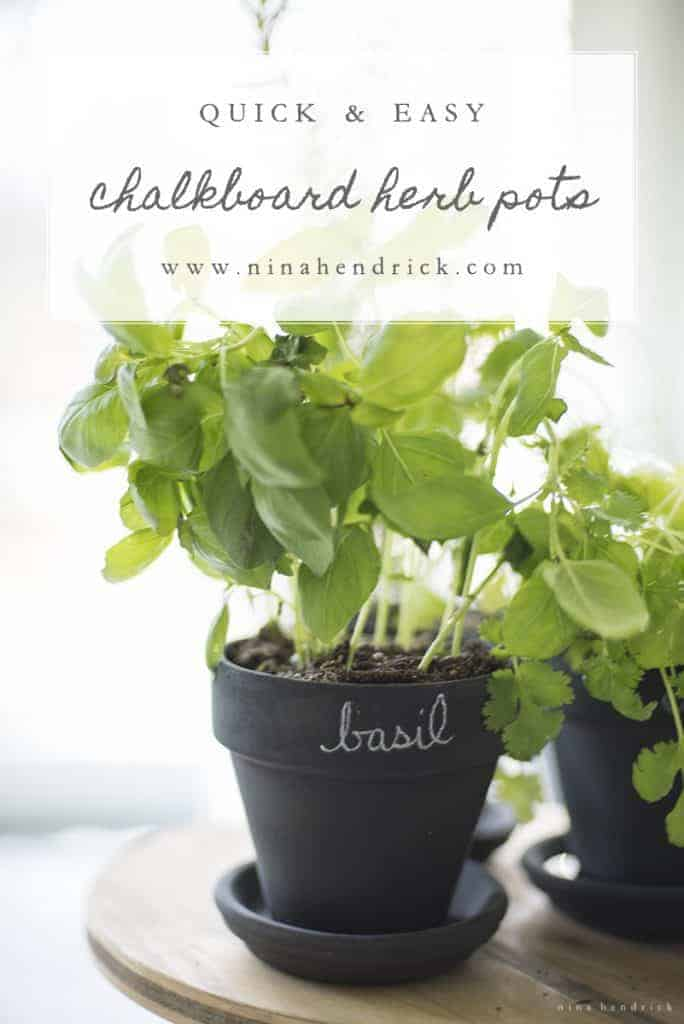Chalkboard Herb Pots | A quick and easy craft and gift idea for Mother's Day and Spring!