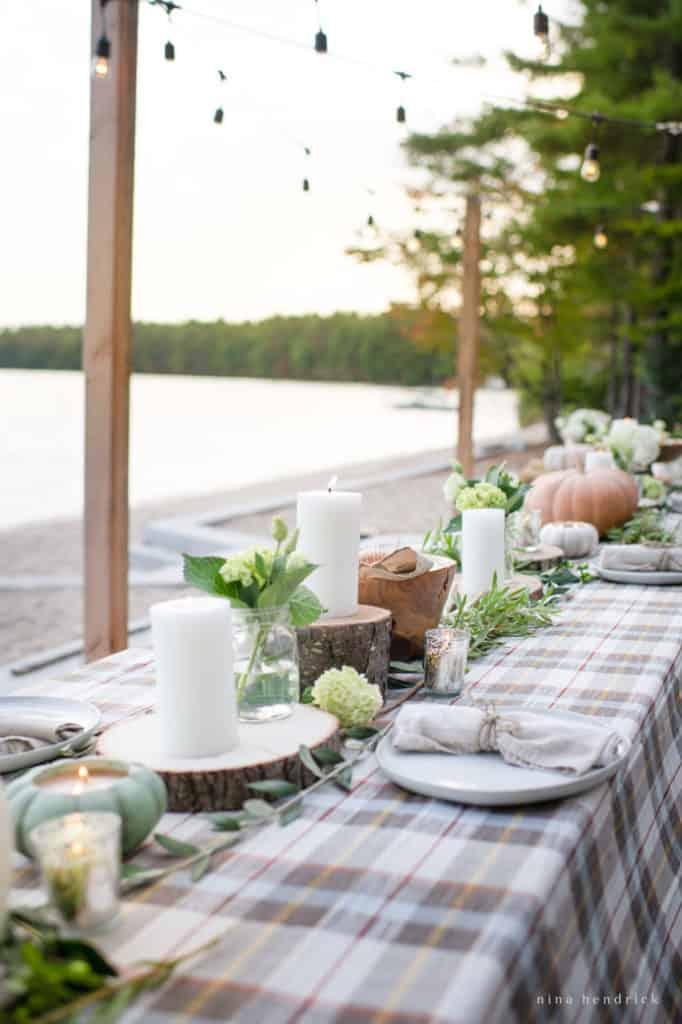 Rustic lakeside fall wedding ideas