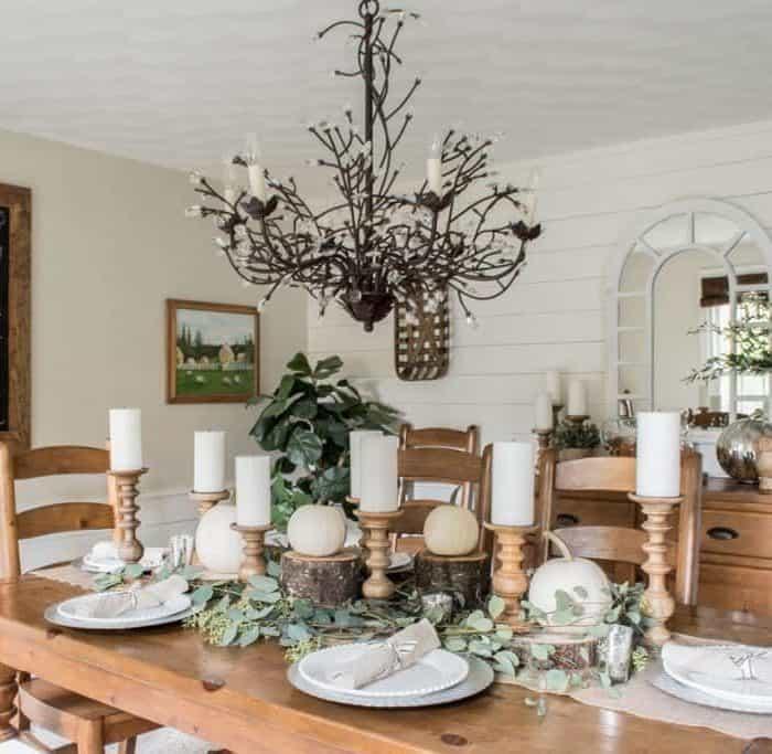 Rustic Thanksgiving Dining Room