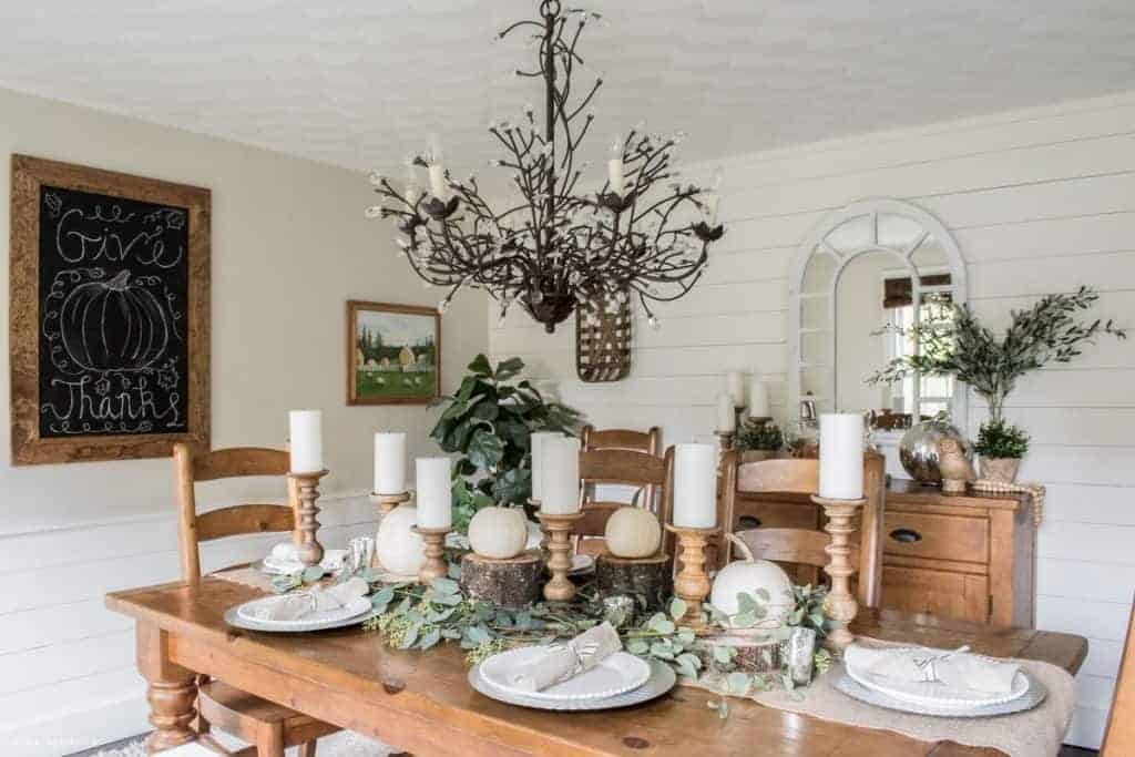 Rustic Dining Room Thanksgiving Inspiration