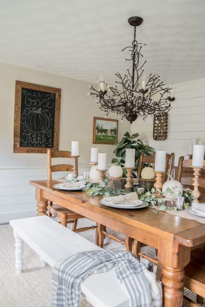 Rustic Dining Room Thanksgiving Inspiration