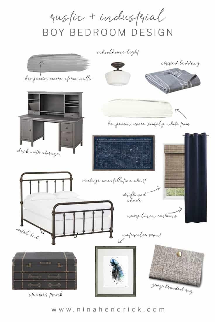 Rustic Industrial Bedroom: Rustic Industrial Boy Bedroom Design Inspiration