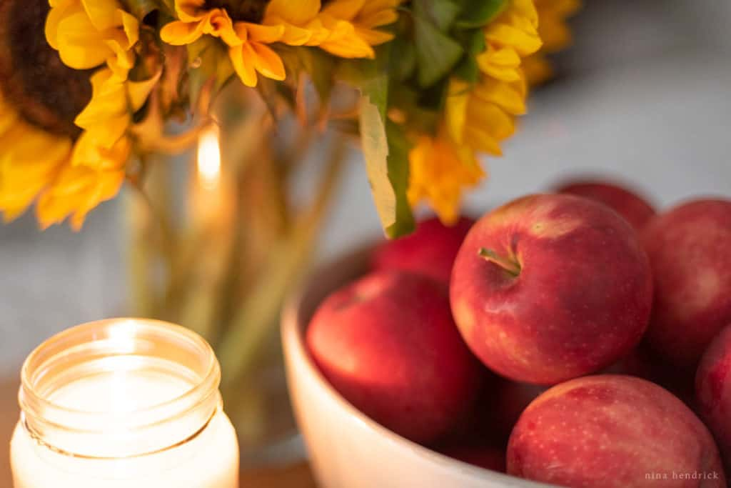 apples in candlelight