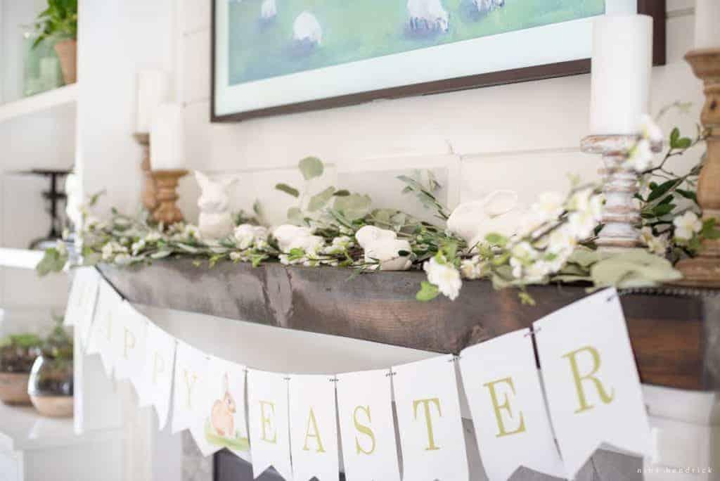 Spring Mantel Decor Easter Decor Inspiration Nina Hendrick