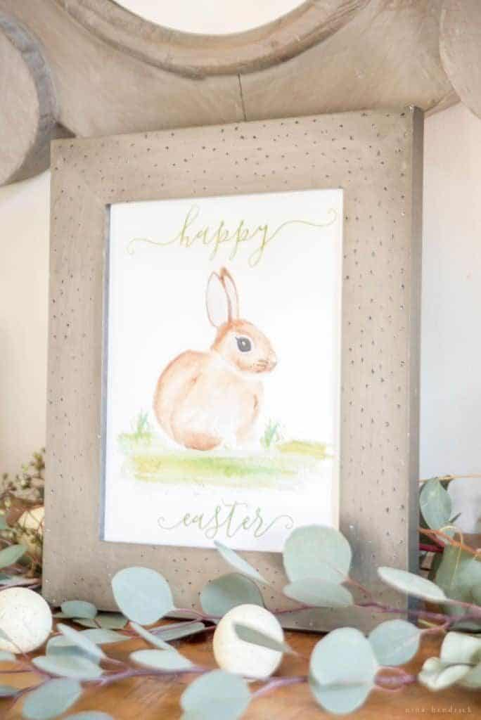 Spring & Easter Watercolor Bunny Printable