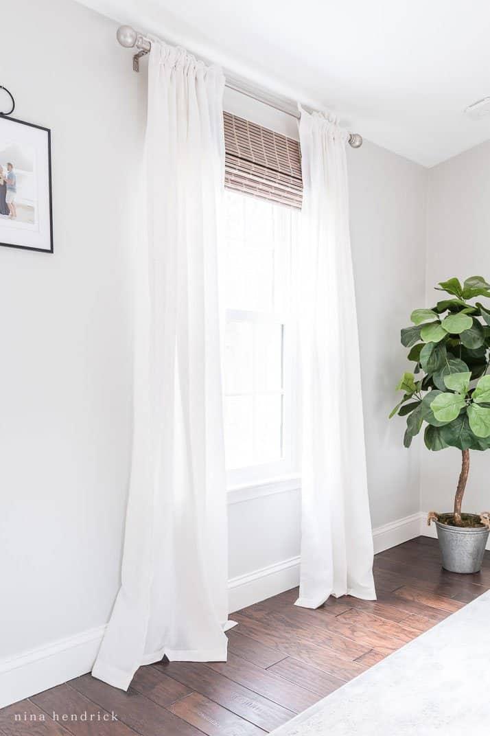 Stylish Budget Window Treatments Light Drapes With Natural Shades
