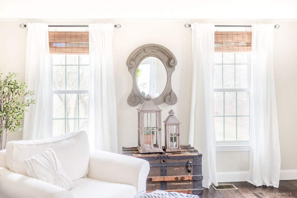 Stylish Budget Window Treatments | Get the look of high-end custom treatments on a budget! Stylish window treatments don't have to break the bank.