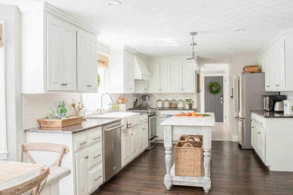 New england farmhouse neutral paint color scheme for New kitchen colors schemes