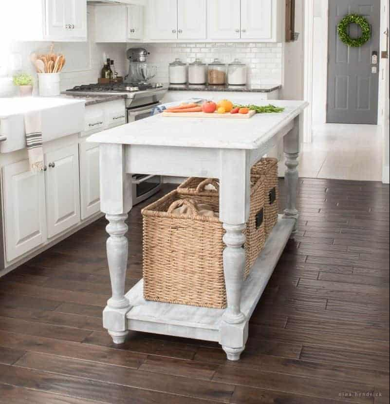 Build your own diy furniture style kitchen island for Camo kitchen ideas