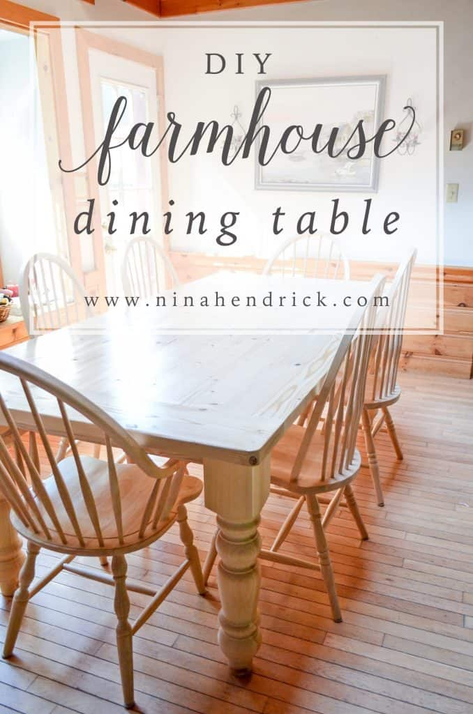 Tutorial on how to build a DIY farmhouse dining table- great beginner building project! | www.nin