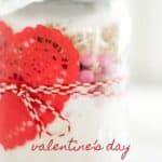Valentine's Day Candy Cookie Mix Jar Gift Idea | This charming candy cookie mix jar gift idea is perfect for a teacher, neighbor, or anyone you want to show appreciation for on Valentine's Day!