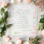 Valentine's Day Tablescape & Jane Austen Print