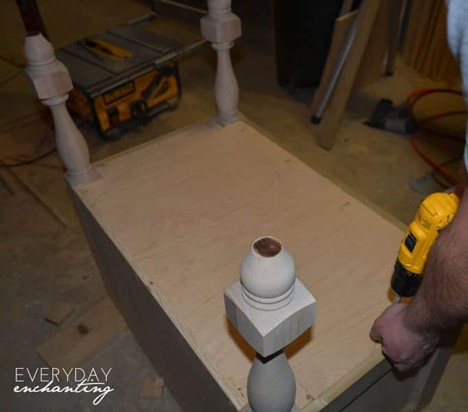 DIY Pottery Barn Inspired Sink Console   Everyday Enchanting