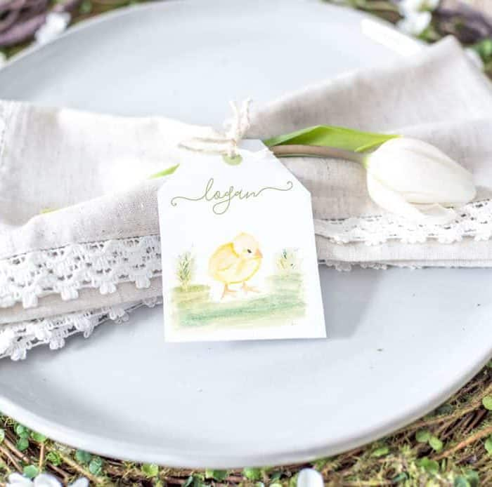 Printable Watercolor Easter Place Cards