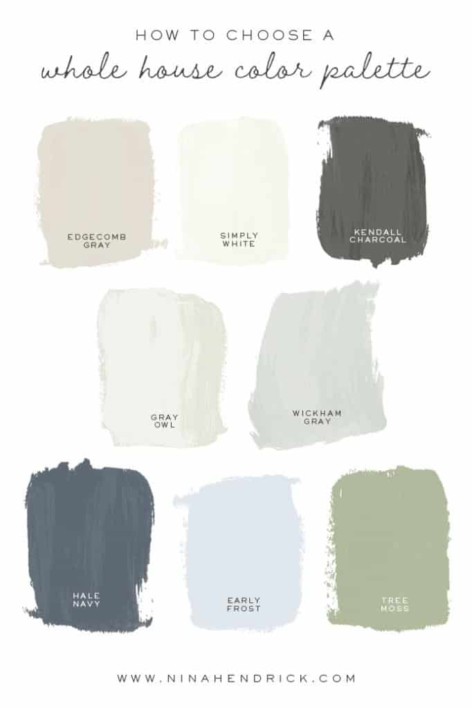 How To Choose A Whole House Color Palette Nina Hendrick