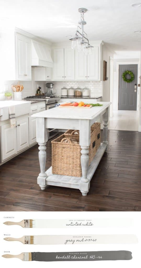 Whole House Color Scheme Gray Owl Kitchen
