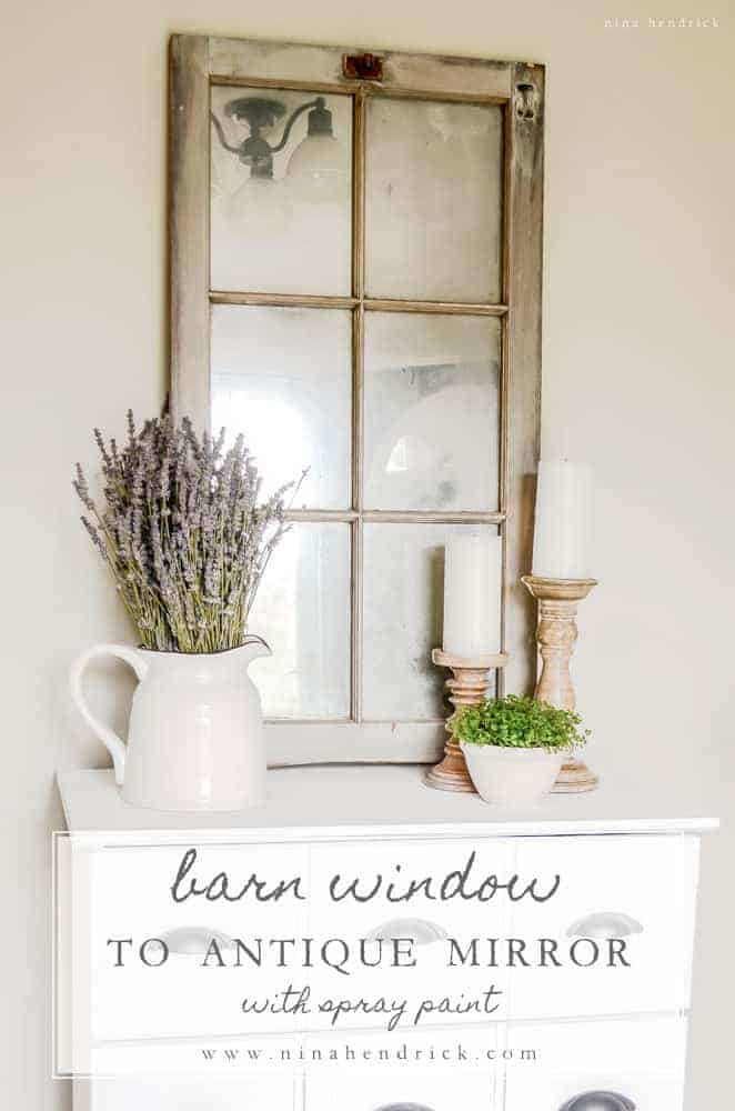 Barn Window Mirror Tutorial Nina Hendrick Design Co