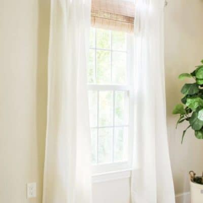Farmhouse Style Window Treatments for Under $50