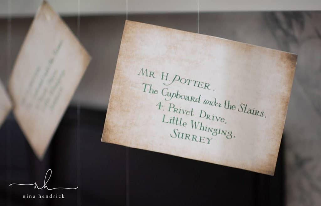 hogwarts letter to harry potter