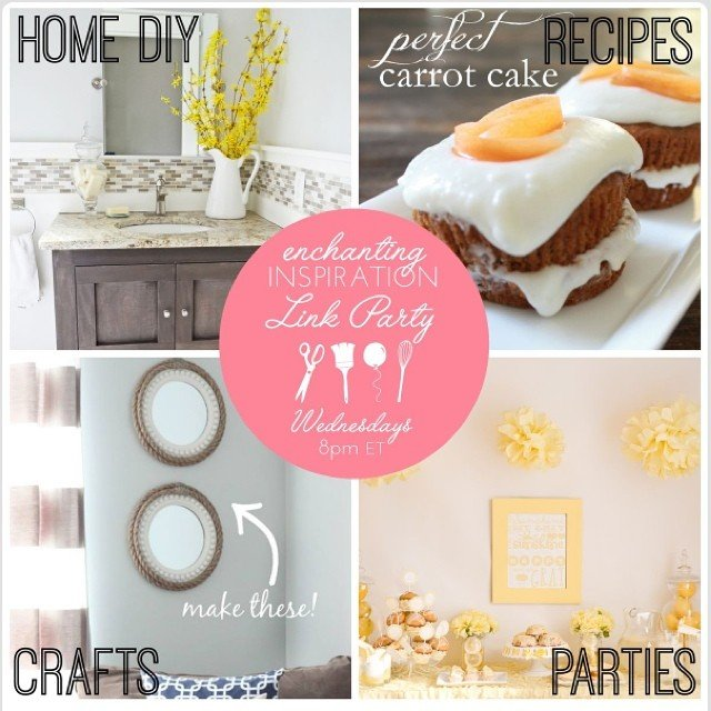 Come link up to the Enchanting Inspiration #linkparty #ontheblog (link in profile!) @jenmigonis @housebyhoff #cupcakes #recipes #crafts #partyinspiration #diy #home